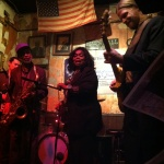 Dr. Herman Green, Ruby Wilson and Matt Isbell in Blues Hall